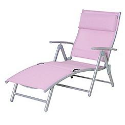 Debenhams - Pink 'Havana' reclining sunlounger