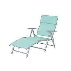 Debenhams - Green 'Havana' reclining sunlounger