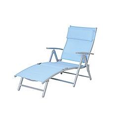 Debenhams - Blue 'Havana' reclining sunlounger