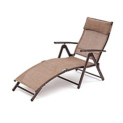 Debenhams - Brown 'Havana' reclining sunlounger