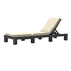 Debenhams - Brown rattan-effect 'Daytona' reclining sunlounger