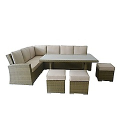 Debenhams - Light  brown rattan-effect 'LA Kingston' corner dining unit