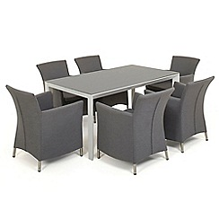 Debenhams - Light grey 'Soul' table and 6 chairs