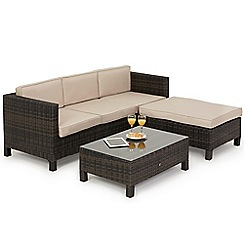 Debenhams - Dark brown rattan-effect 'LA Baby' corner unit