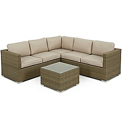 Debenhams - Light brown rattan-effect 'LA Porto' garden corner unit