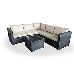 Debenhams - Dark brown rattan-effect 'LA Porto' garden corner unit