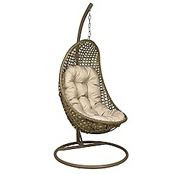 Debenhams - Light brown rattan-effect 'LA Malibu' garden hanging chair
