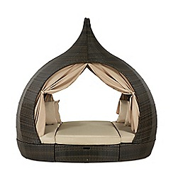 Debenhams - Dark brown 'LA Peach' outdoor daybed