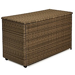 Debenhams - Light brown rattan-effect 'Winchester' outdoor storage box
