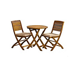 Debenhams - Acacia wood 'Panama' bistro set
