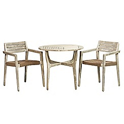 Debenhams - Acacia wood 'Mikado' bistro set