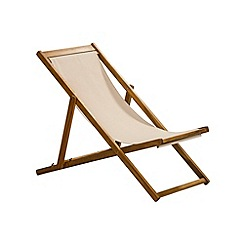 Debenhams - Acacia wood 'Panama' garden deck chair