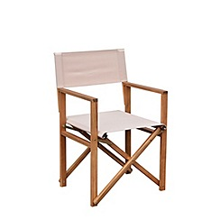 Debenhams - Acacia wood 'Panama' carver chair