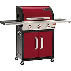 Landmann - Red 'Triton' 3 burner gas barbeque