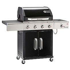 Landmann - Black 'Triton' 4 burner gas barbeque