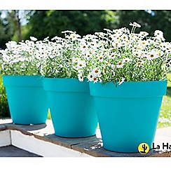 La Hacienda - Set of 3 'Capri' plant pots