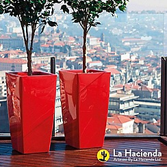 La Hacienda - Pair of 'Piza' plant pots