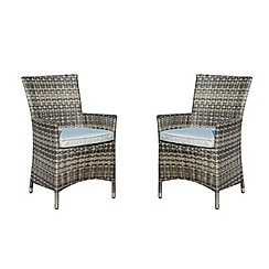 Debenhams - Pair of grey rattan effect 'LA' chairs