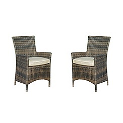 Debenhams - Pair of brown rattan effect 'LA' chairs