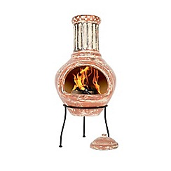 La Hacienda - Clay terracotta painted chimenea
