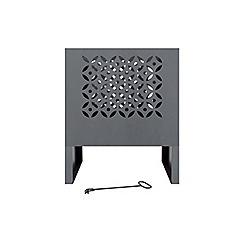 La Hacienda - Black steel 'Casablanca' fire basket