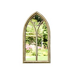 La Hacienda - Beige steel frame church window mirror