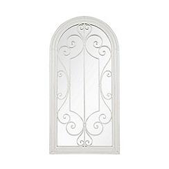 La Hacienda - White steel garden mirror