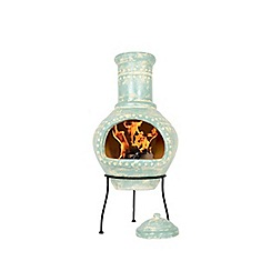 La Hacienda - Clay decorative dots painted chimenea