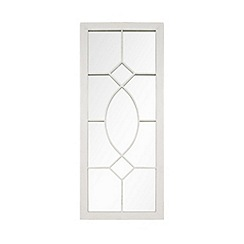 La Hacienda - White steel tall rectangle mirror