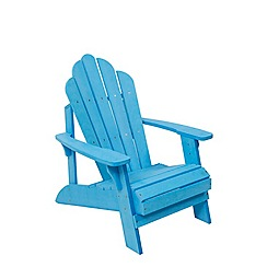 Debenhams - Blue 'Florian' garden chair and footstool