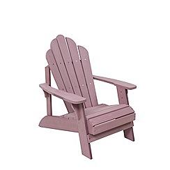 Debenhams - Purple 'Florian' garden chair and footstool