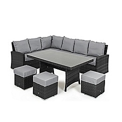 Debenhams - Grey rattan-effect 'LA Kingston' corner garden dining unit