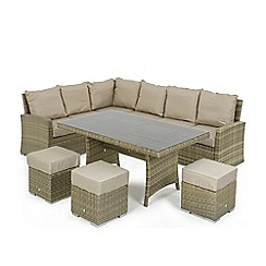 Debenhams - Light brown rattan-effect 'LA Kingston' corner garden dining unit