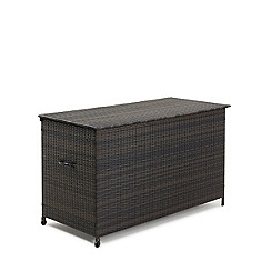 Debenhams - Brown rattan effect 'LA' garden storage box