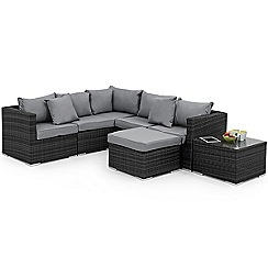 Debenhams - Grey rattan-effect 'LA London' garden corner unit