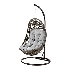 Debenhams - Grey rattan-effect 'LA Malibu' garden hanging chair