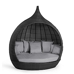 Debenhams - Grey rattan-effect 'LA Pear' garden daybed
