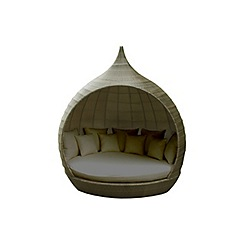 Debenhams - Light brown rattan-effect 'LA Pear' garden daybed