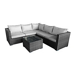 Debenhams - Grey rattan-effect 'LA Porto' garden corner unit