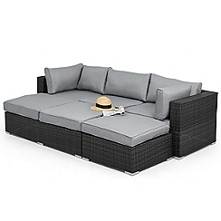 Debenhams - Grey rattan-effect 'LA Rio' garden corner unit