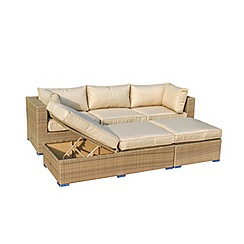 Debenhams - Brown rattan effect 'LA Rio' garden corner unit
