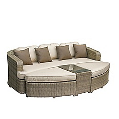 Debenhams - Light brown rattan-effect 'LA Toronto' garden daybed