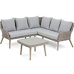 Debenhams - Grey rattan-effect 'Palmira' garden sofa and table