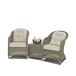 Debenhams - Brown rattan-effect 'Winchester' garden lounge chairs and side table