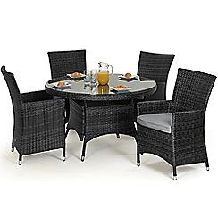 Debenhams - Grey rattan effect 'LA' round garden table and 4 chairs