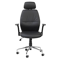 Alphason - Black 'Parker' office chair