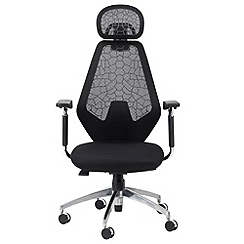 Alphason - Black patterned 'Linfield' office chair