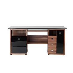 Alphason - Walnut effect 'Saratoga' desk
