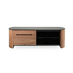 Alphason - Walnut finished 'Finewood' TV unit