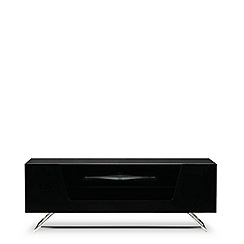 Alphason - Black 'Chromium' TV unit